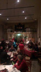 Overzicht foto van NPK waarin de kerstmarkt gehouden werd.