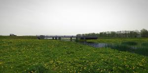 Impressie hoe de ecoduct nabij Gieterveen eruit zal komen te zien.