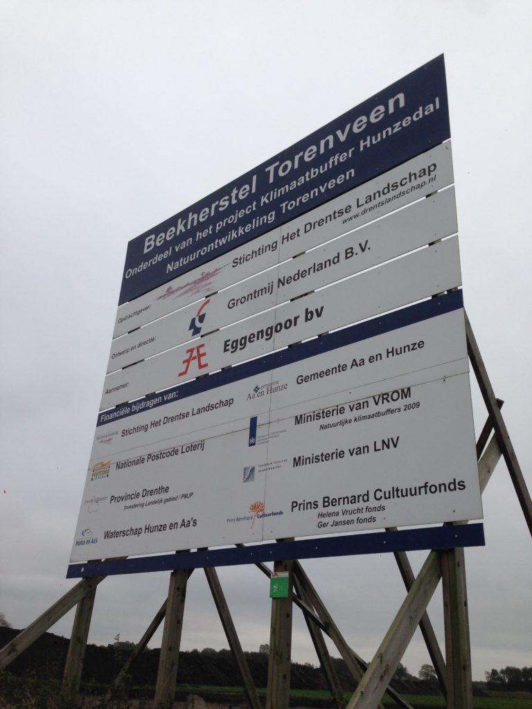 Het projectbord waar alle betrokken partijen op staan vermeld.