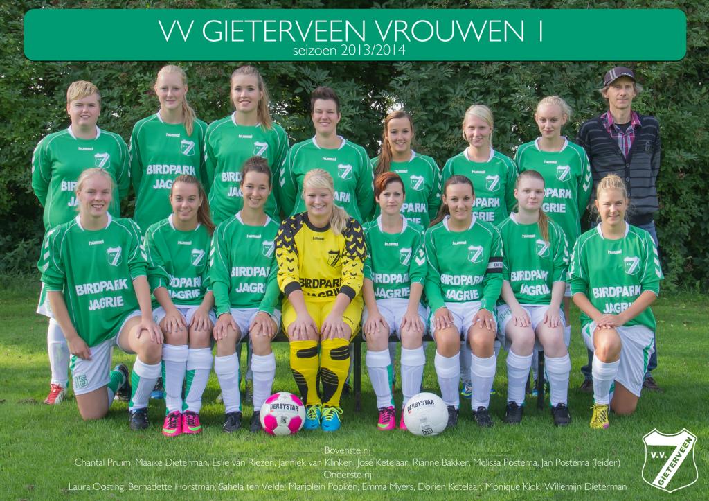 Het damesteam van vv Gieterveen