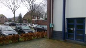 Locatie van de AED bij het  MFC Gieterveen.