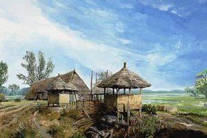 Zo zag een nederzetting uit de ijzertijd eruit in Drenthe. (foto: kijkeensomlaag.nl)