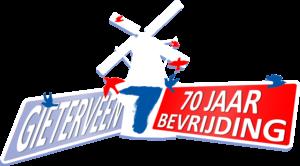 70 jaar bevrijding Gieterveen logo Transparant