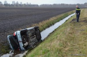 Ongeval N33 (bron: 112Marum)