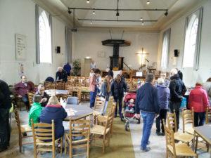 In de grote kerk was een boekenmarkt